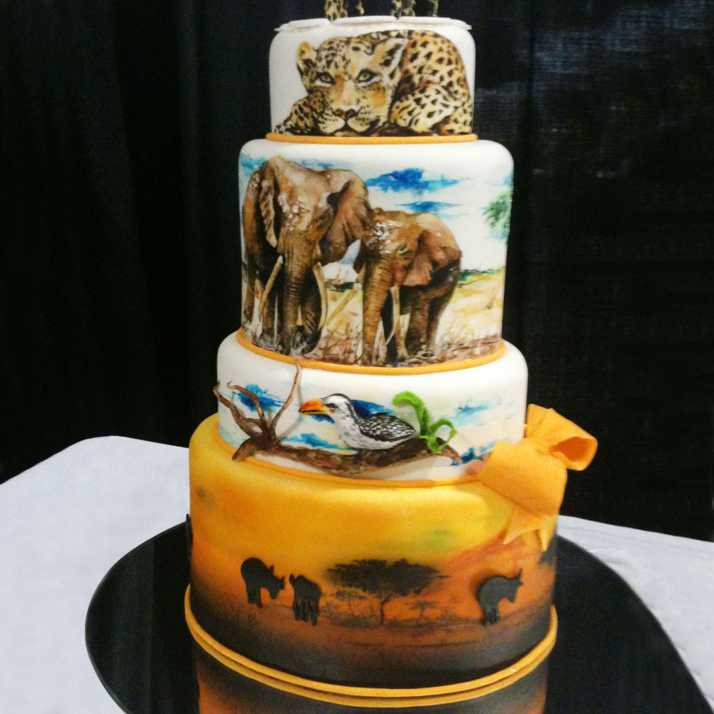 Свадебный торт в стиле сафари