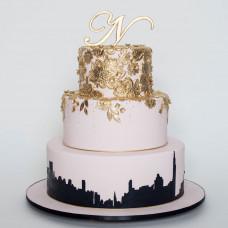 Свадебный торт в стиле город