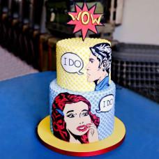 Свадебный торт в стиле Поп Арт