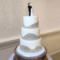 Свадебный торт в стиле гламур