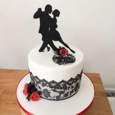 Свадебный торт с танцевальной темой