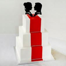 Свадебный торт с красной ковровой дорожкой