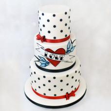 Свадебный торт в стиле Пин Ап