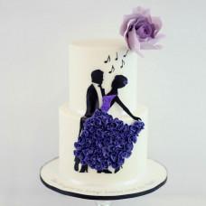 Свадебный торт в стиле танго