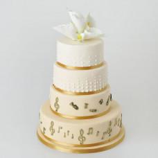 Свадебный торт в музыкальном стиле