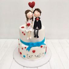Свадебный торт в романтическом стиле