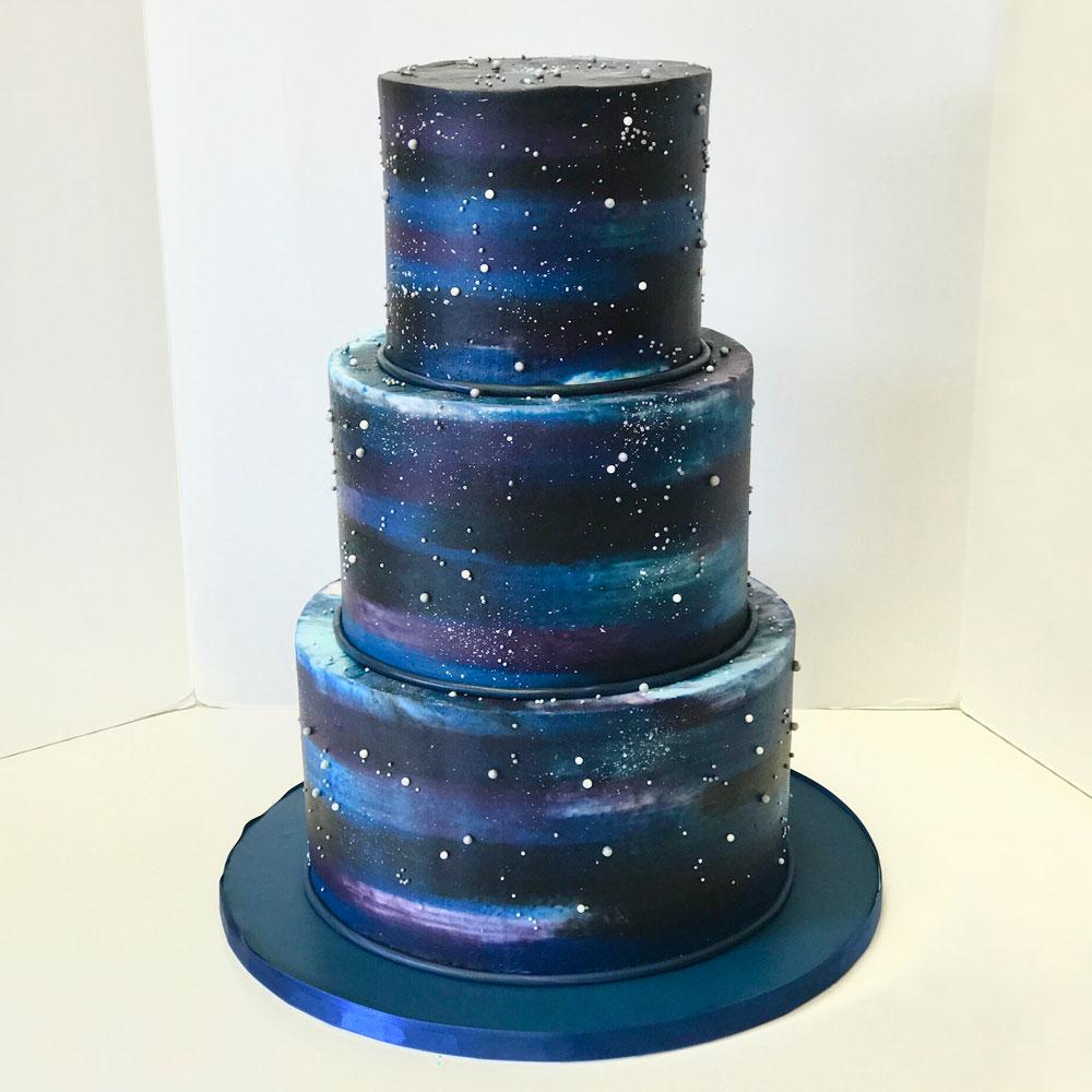 Свадебный торт в звездном стиле