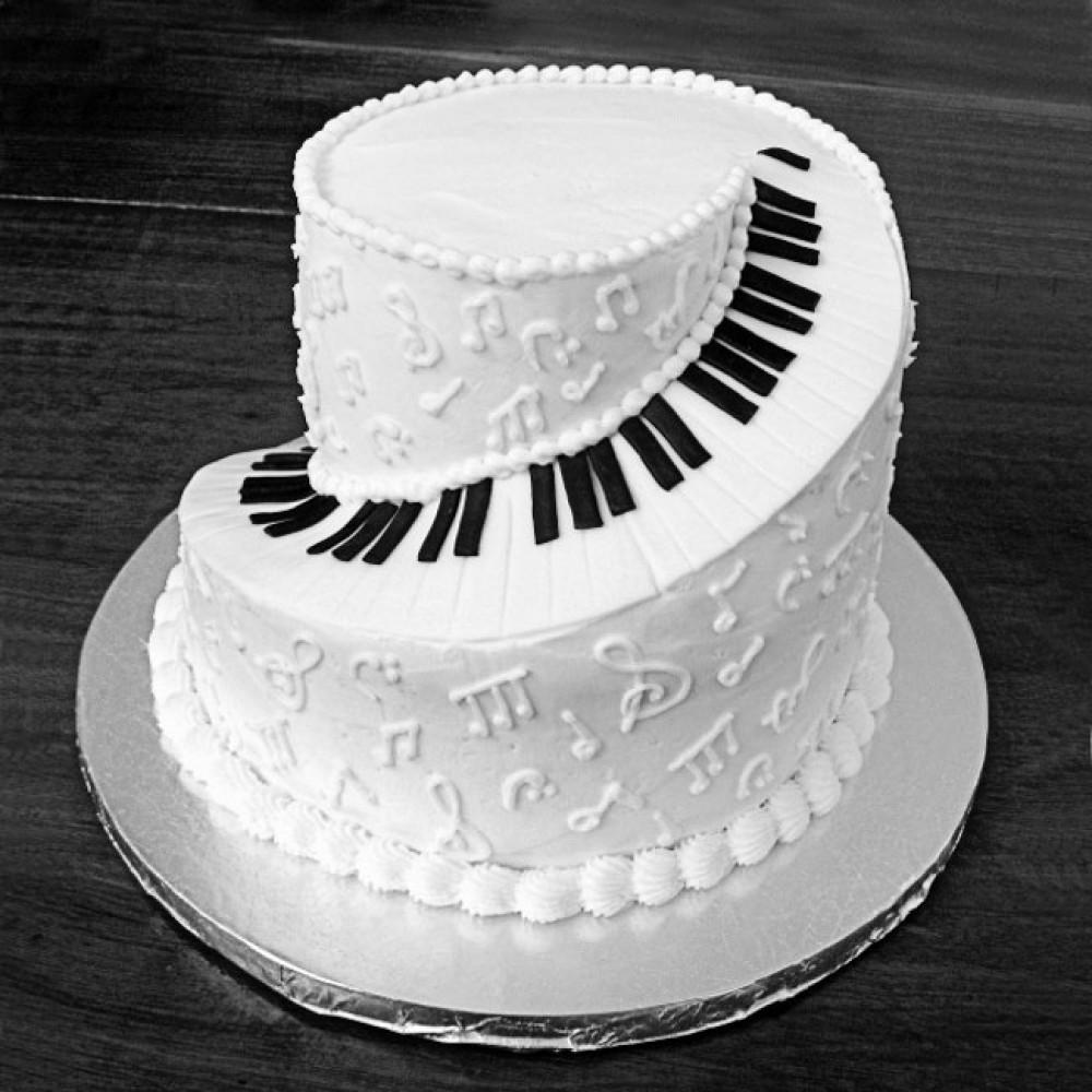 Свадебный торт на тему музыки