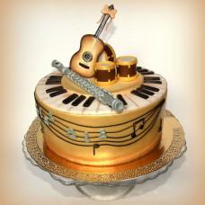 Торт на свадьбу двух музыкантов