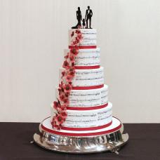 Свадебный торт с музыкальными нотами