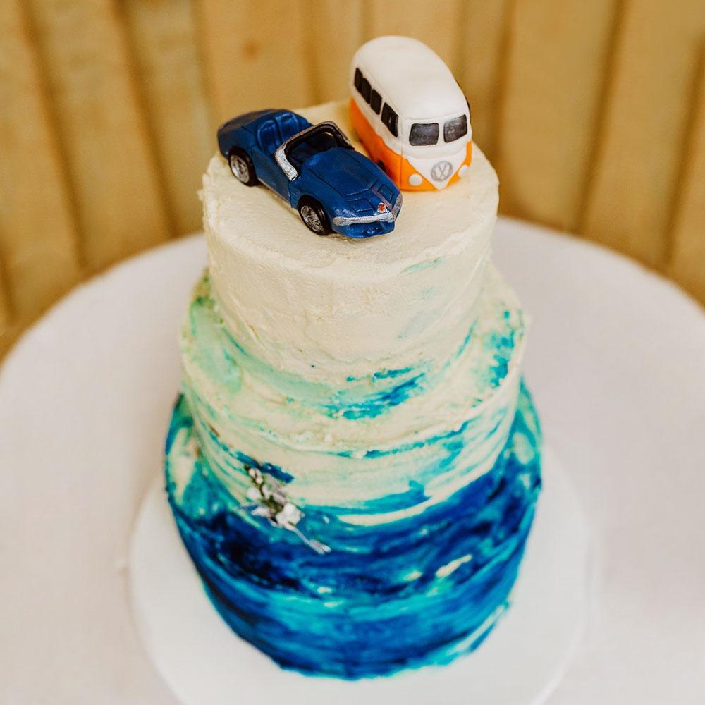 Свадебный торт с авто