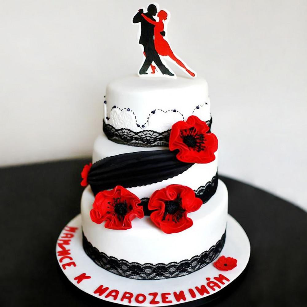 Свадебный торт на тему танцев