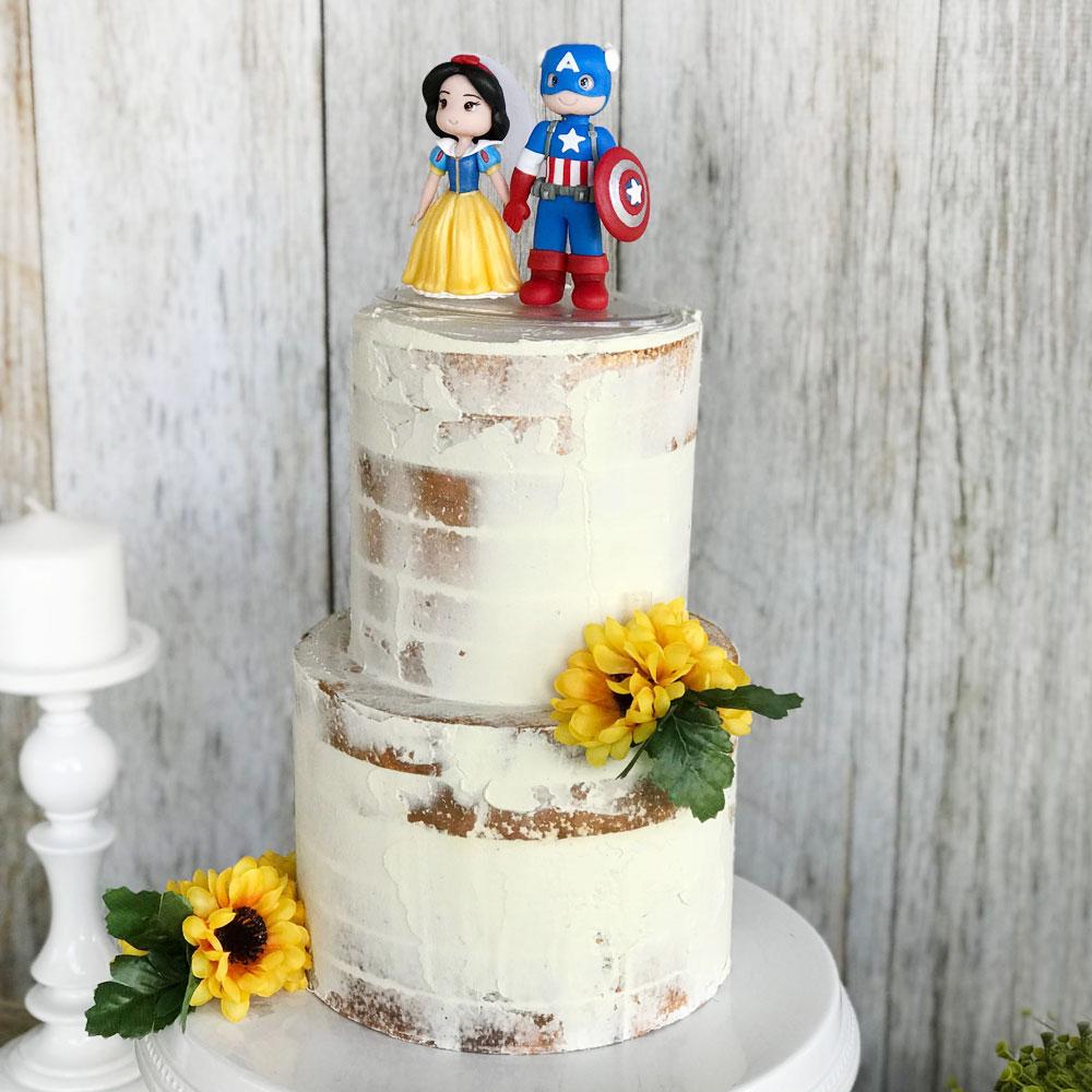 Свадебный торт в стиле Комиксов