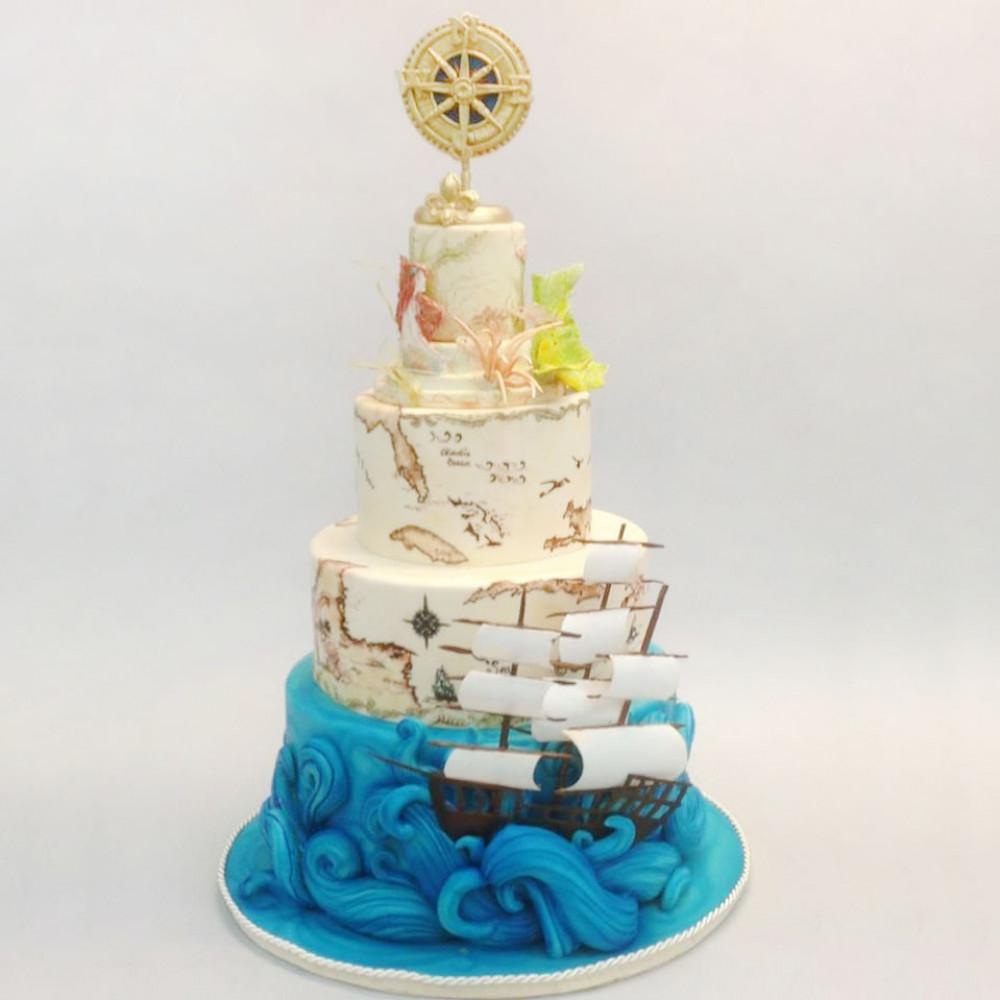 Пиратский торт на свадьбу