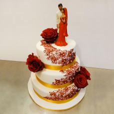 Свадебный торт в молодежном стиле