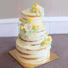 Свадебный торт в ромашковом стиле