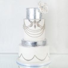 Свадебный торт в винтажном стиле