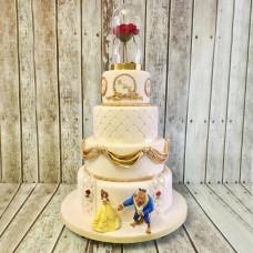 Свадебный торт Красавица и Чудовище