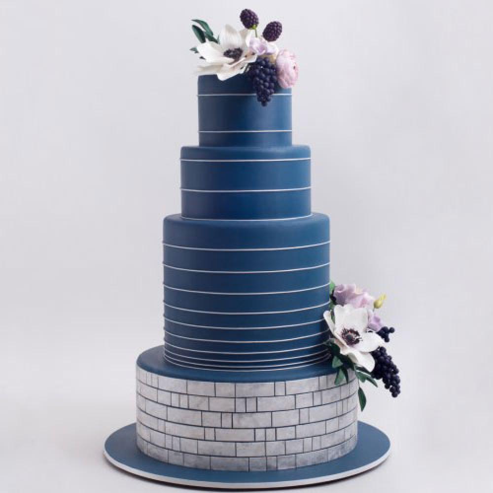 Свадебный торт в джинсовом стиле