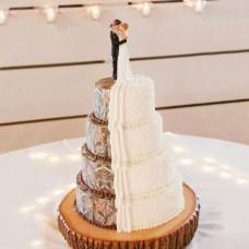 Свадебный торт в стиле кантри