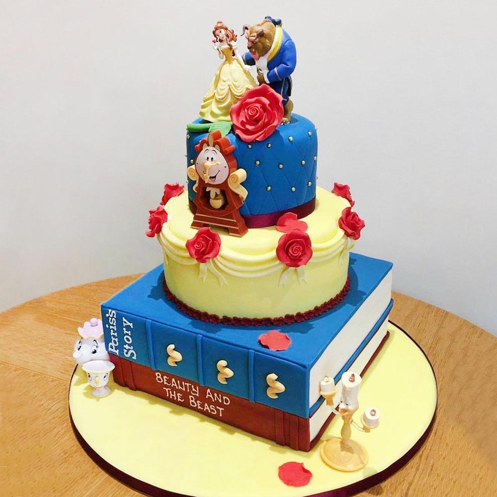 Торт на свадьбу в стиле Красавицы и Чудовища