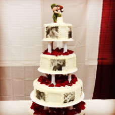 Свадебный торт в стиле милитари