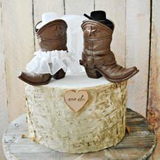 Свадебный торт в стиле вестерн