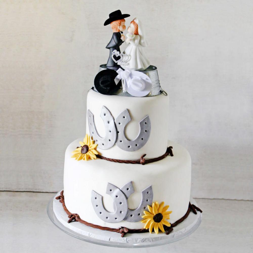 Свадебный торт в ковбойском стиле