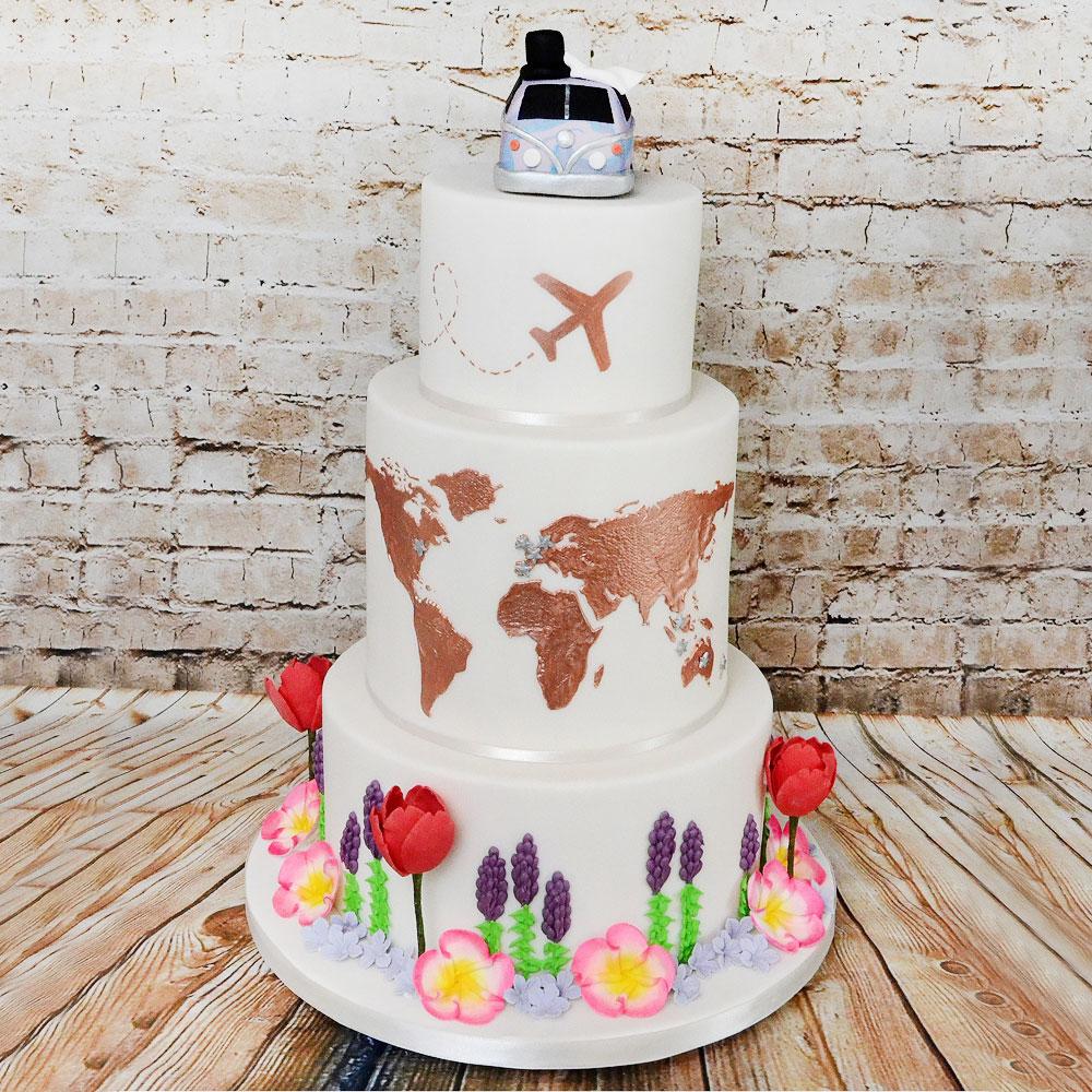 Свадебный торт в стиле хиппи