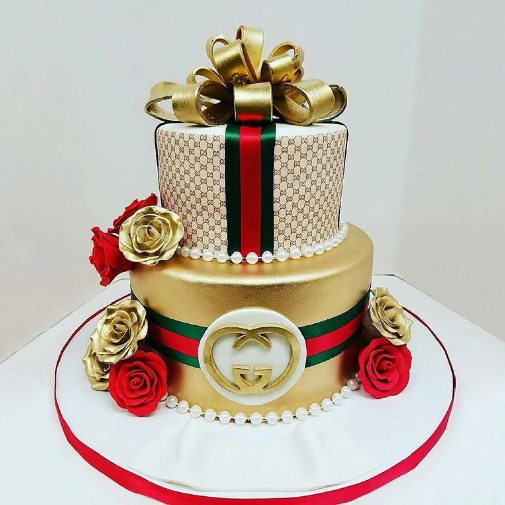 Свадебный торт на тему Луи Витон