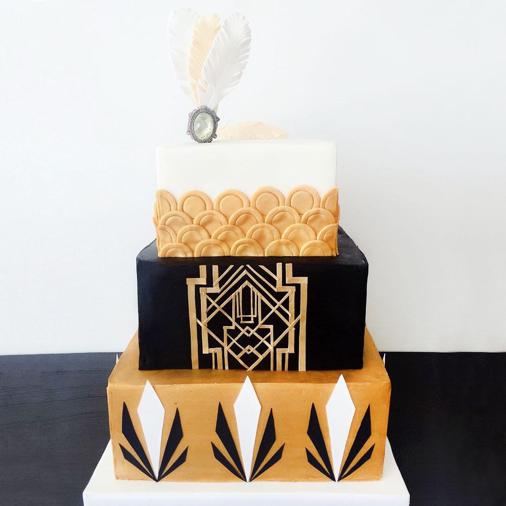 Свадебный торт в стиле Гетсби