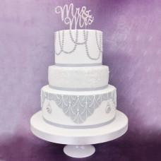 Свадебный торт в стиле Арт Деко