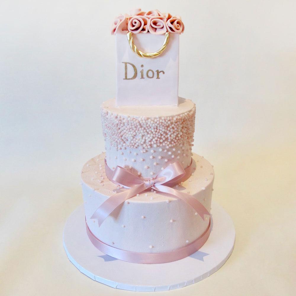 Свадебный торт в стиле Диор