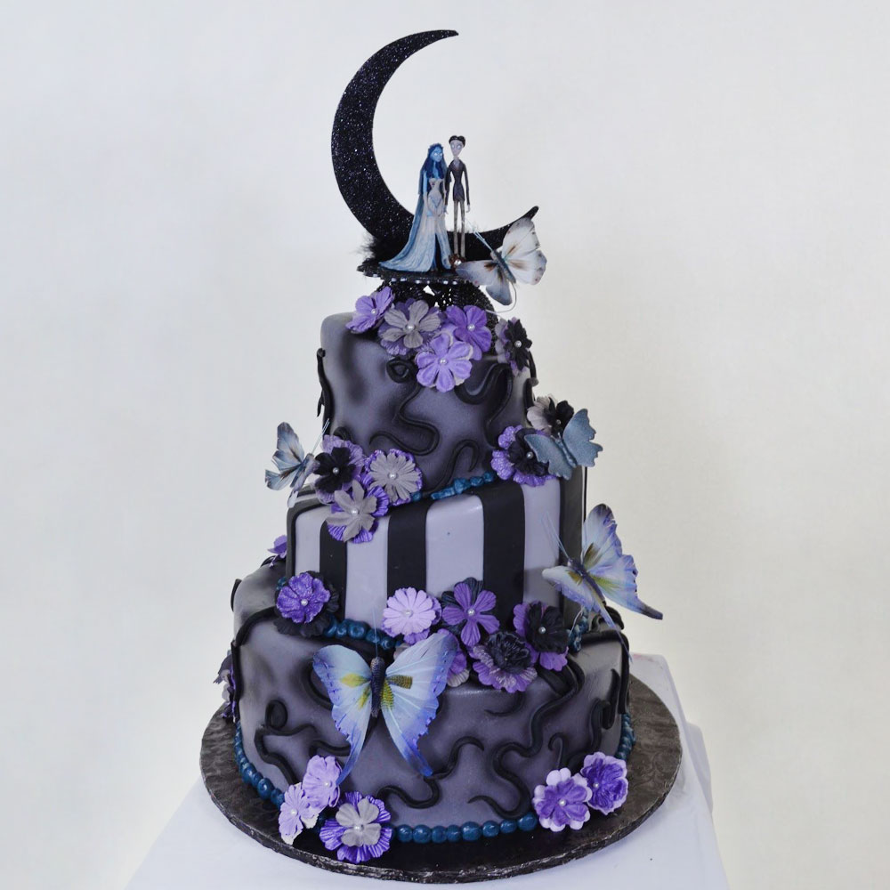 Свадебный торт в стиле Хэллоуин