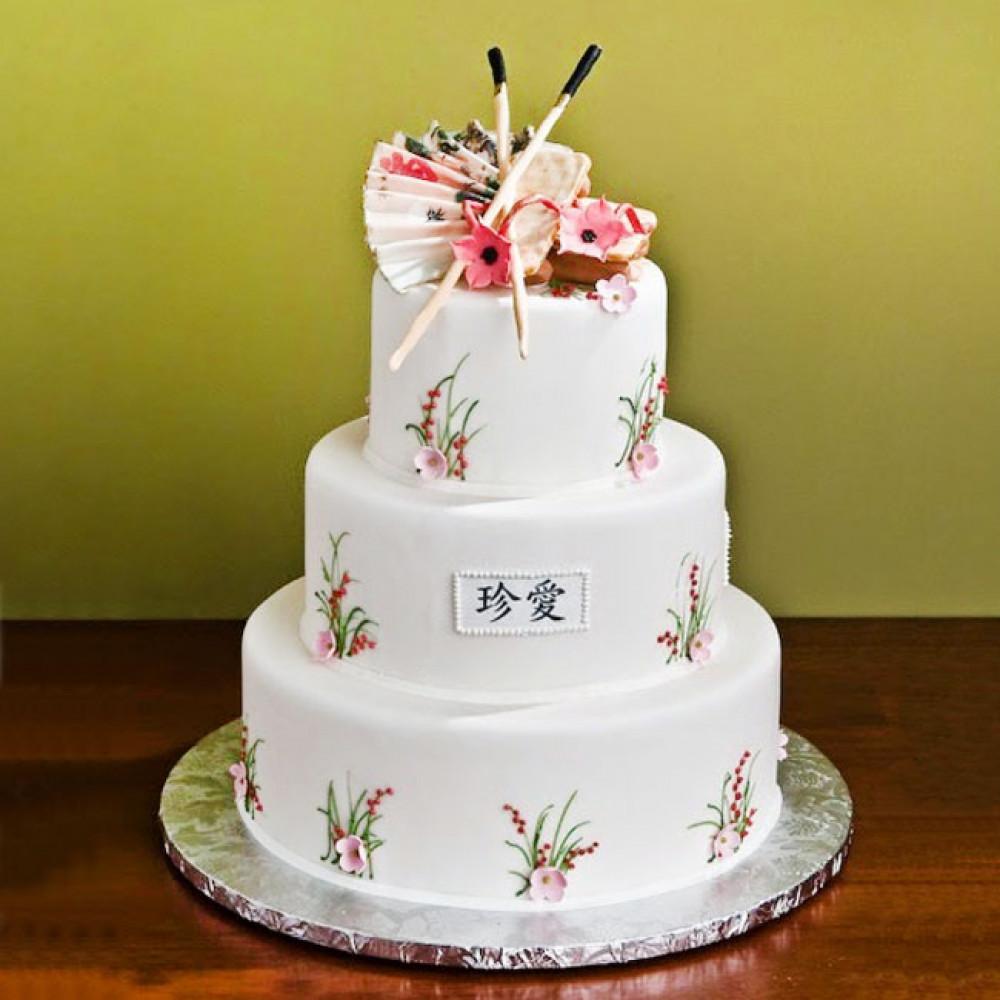 Торт на японскую свадьбу