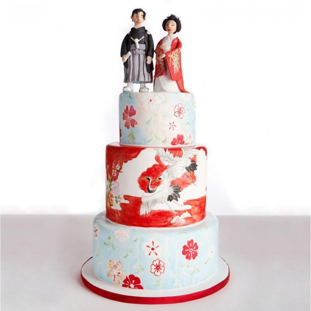Свадебный торт японская тематика