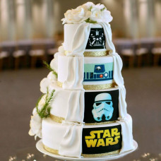 Свадебный торт в стиле Звездные Войны