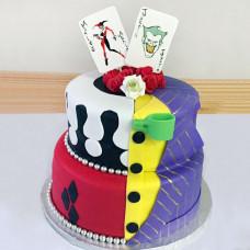 Свадебный торт с Джокером и Харли Квинн