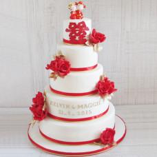 Свадебный торт с символикой Китая