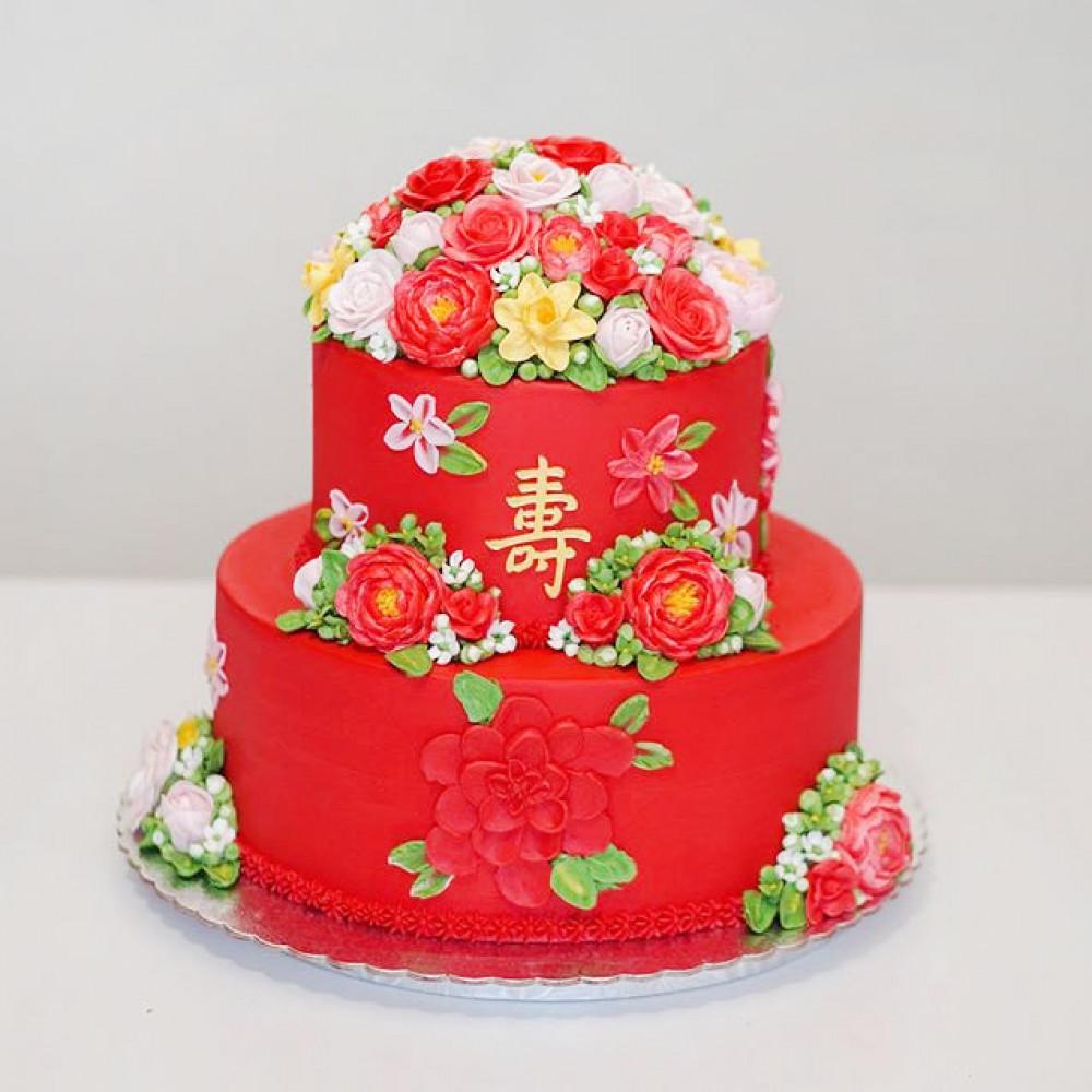Торт на свадьбу в китайском стиле