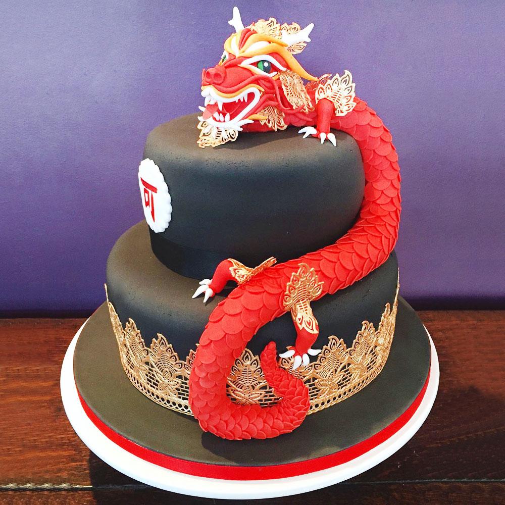 Свадебный торт с китайским драконом