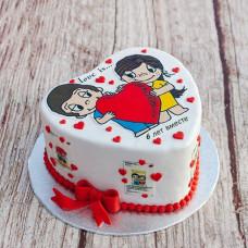 Свадебный торт сердце Love is