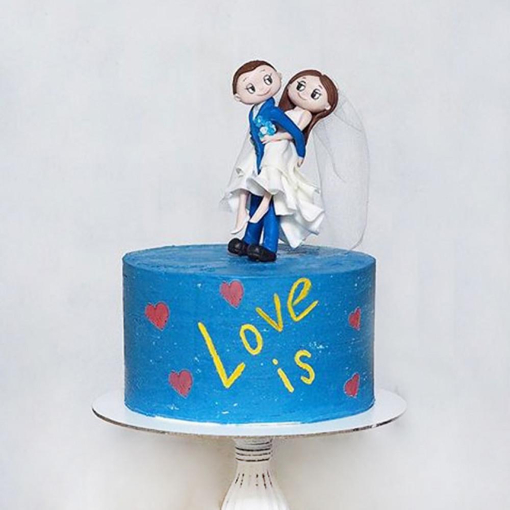 Свадебный торт на тему Лав из