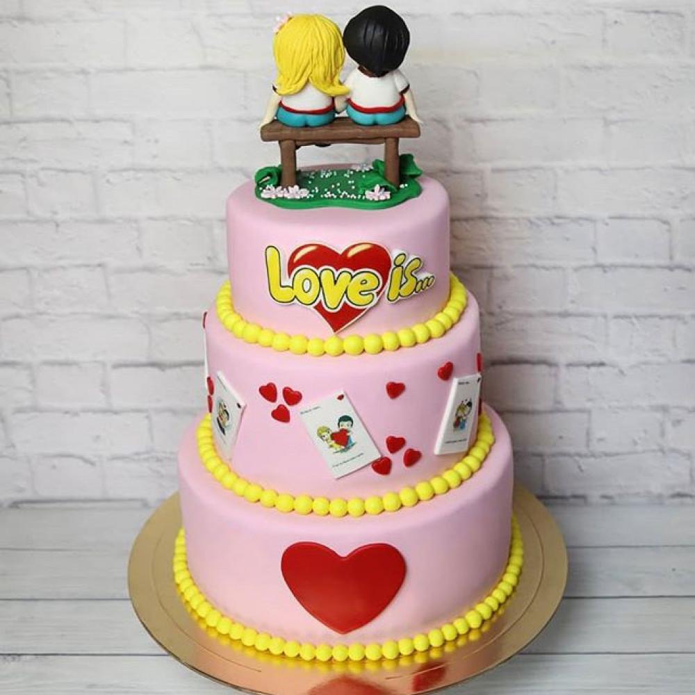 Торт на свадьбу «Любовь это…»