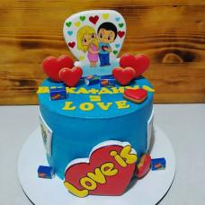 Свадебный торт Love is с пряниками
