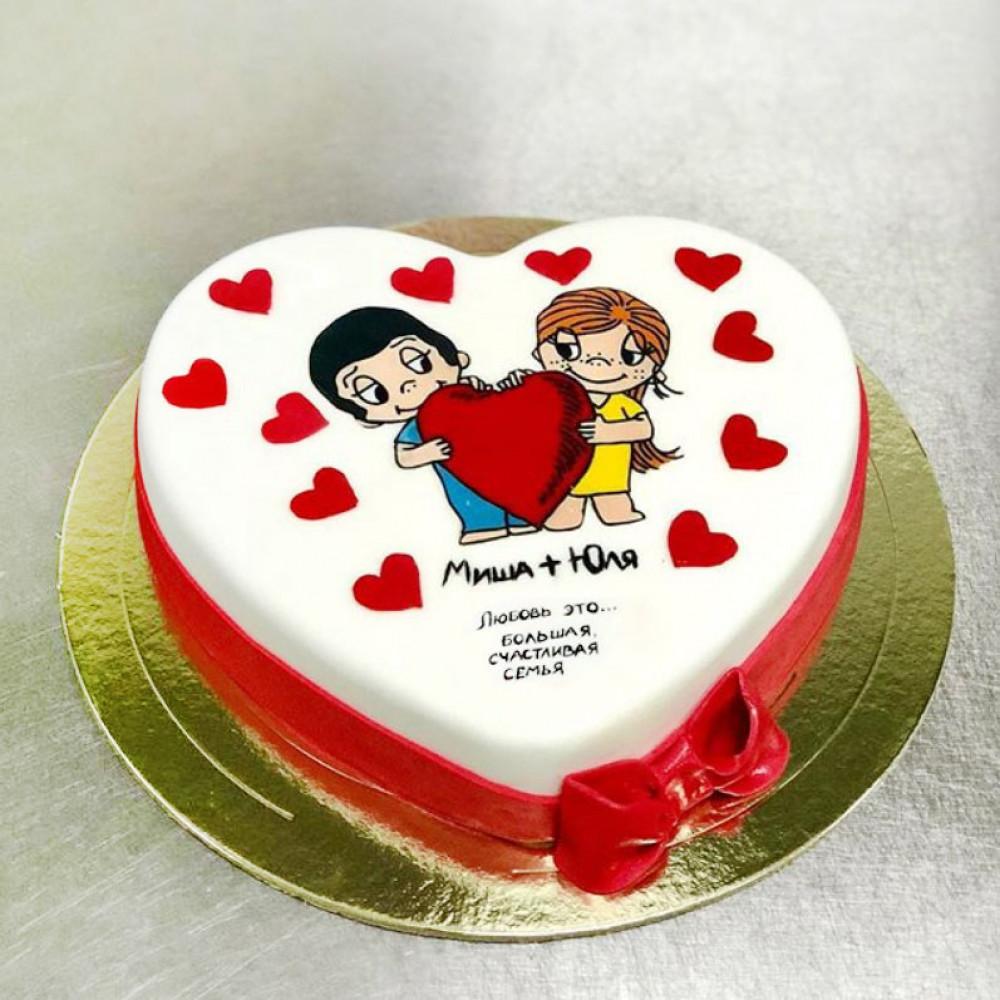 Свадебный торт по мотивам жвачки Love is