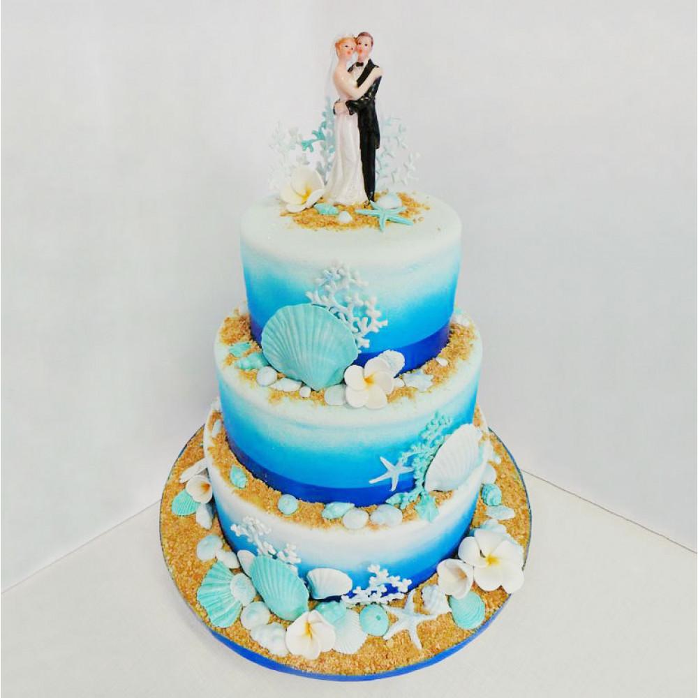 Свадебный торт Морская тематика