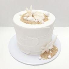 Торт на свадьбу в морском стиле