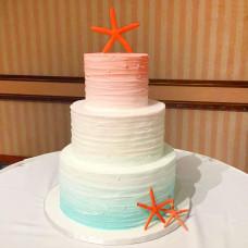 Свадебный торт с морскими звёздами