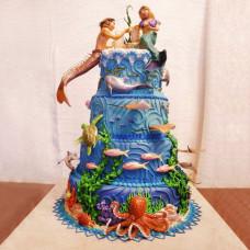 Свадебный торт Подводный мир